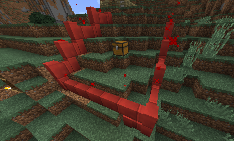 Fancy-looking, fiery-red animated Boundary Blocks. You shall not pass.