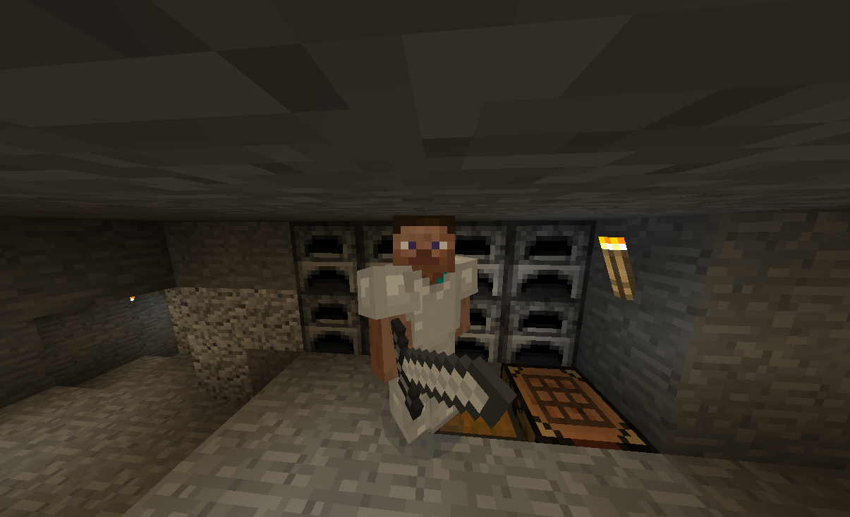 I may look like any other Steve, but I still have my GumbyBlockhead mining mojo.