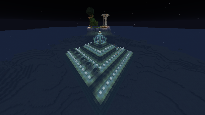 """""""Ocean Monument Garden with Joop's Tree and the Gumby Tower,"""" capture by @GumbyBlockhead"""